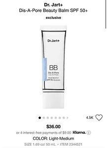 Dr.Jart+ Dis-A-Pore Beauty Balm BB Cream SPF 50+ 50 mL/1.69oz  Light-Med