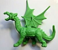 1980's Sword and the Sorcerer GREEN Plastic Dragon With Wings Action Figure RARE