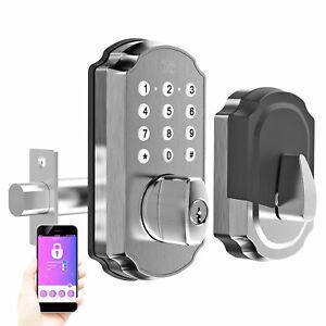 Turbolock TL115 Smart Lock Door Keypad App eKey & Voice Prompts Digital Deadbolt