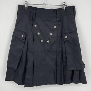 "Utiliclan Utilikilts Black Poly/Cotton Kilt Size 31 / 21.5L Fits 30"" Waist Cargo"