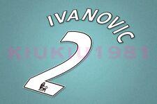 Chelsea Ivanovice #2 PREMIER LEAGUE 07-13 White Name/Number Set
