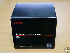 NEW Sigma 10-20mm F3.5 EX DC HSM (10-20 mm F/3.5) Wide Angle Lens Nikon*Offer