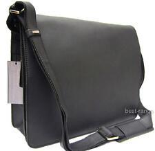 Large Messenger Shoulder Bag Real Leather Oil Black Visconti Harvard 18548 New