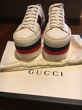 Gucci Women's  Rainbow Platform Sneakers 37 Fits US 7.5 or 8. Worn once HOT