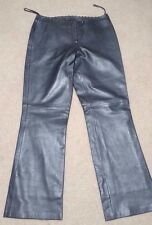 CACHE Women's Leather Pants - Size 12 - Great Shape- Dk Gray/Silver- Ships Free