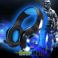 Gaming Headphones Headset Deep Bass Stereo wired gamer Earphone Microphone PC