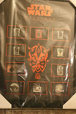 Star Wars Weekends WDW 2012 Framed Pin Set LE200 Including Rare Completer Pin