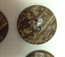 60 XLarge Wooden Buttons -2 inch -  - Wood Buttons - Coconut Wood