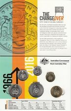 2016 Australia 50th Anniversary Changeover Folder and UNC Coins from Mint Bags