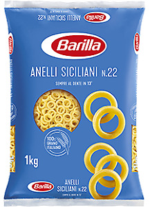 PASTA BARILLA ANELLI SICILIANI PASTA DI SEMOLA ITALIANA ANELLETTI AL FORNO 1 KG