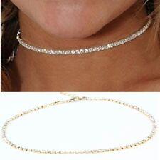 Gold diamante crystal choker UK