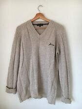 "EWM Size 40"" Pure New Wool Stone V Neck Jumper <T9398"
