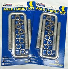 FOUR TRAILER AXLE U BOLTS WITH NUTS SUIT 40MM SQUARE AXLES GALVANISED