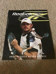 Vintage 2004 ANDY RODDICK REEBOK TENNIS Shoes Apparel Poster Print Ad RARE
