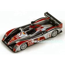 AUDI R 10 N.3 4th Le Mans 2008 1:87 Spark Model Auto Competizione Die Cast