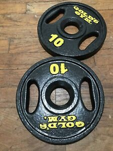 """10 Lb Golds Gym 2"""" Olympic Grip Weight Plates Set Of 2 - 20 lb Total"""