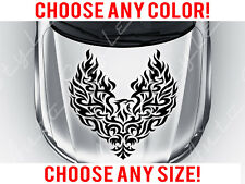 Flaming Eagle Bird Tattoo Tribal Mirrored Hood Decal Vinyl Custom Any Size Color