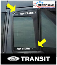 Ford transit wind deflector/glass decals x 2.  graphic stickers custom connect