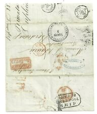 MEXICO 1852 TAMPICO TO BOURDEAX LETTER BRITISH PACKET LINE EXTERNAL   (U16)