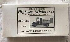 Jordan Products Highway Miniatures Railway Express Truck 360-214 Sealed