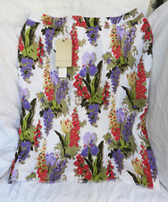 Laura Ashley Floral Linen Skirt - Size UK 14 - BNWT - RRP £60 / 100 Euros