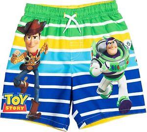 TOY STORY BUZZ WOODY UPF50+ Bathing Suit Swim Trunks Boys Sizes 4, 5-6 or 7 $25