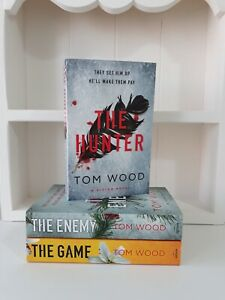 Collection of 3 x Paperback Books Crime, Thriller - Tom Wood - The Hunter - NEW