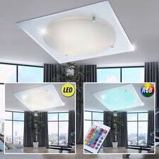 RGB LED Decken Leuchte Wohnraum Lampe Chrom Spiegel Glas Strahler FERNBEDIENUNG