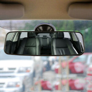 Car Truck Wide Flat Interior Rear View  Mirror Suction Stick Rearview Universal
