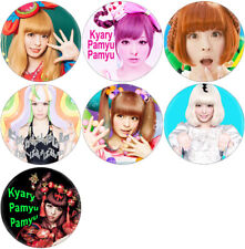 Kyary Pamyu Pamyu - Lot of 7 badges (pins, spille, Babymetal, Band-Maid, J-pop)