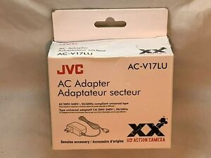 NEW JVC AC-V17LU AC Adapter for Adixxion for GC-XA1 HD Action Camera
