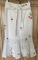 Tularosa Emerie Skirt in Ivory Midi Embroidered & Eyelet Small S NWOT $178