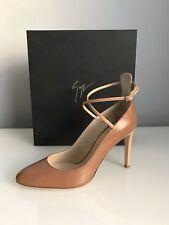a29103ce984455 Giuseppe Zanotti Brown Leather Bimba Heeled Shoes Sandals Size UK 4 RRP £480