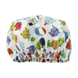 Shower Cap Kids eco friendly waterproof cotton cats