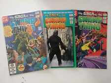 SAGA OF THE SWAMP THING #1 to 3 (1982) Comic Lot - by DC Comics