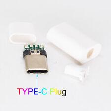 5sets White USB 3.1 Type C USB C Male Plug DIY Connector Solder Housing Cover