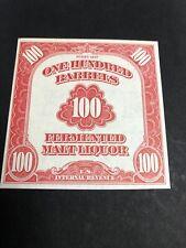 US REA197 1947 100 Bbl Beer Stamp XF SCV $125 FAULT FREE!