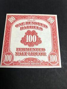 US REA197 1947 100  Beer Stamp XF