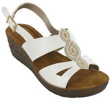 Inblu GLAMOUR Sandali con Cinturino alla Caviglia Donna Bianco 36 EU