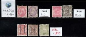 WC1_9433. TONGA. Valuable lot of 1888-1895 stamps. MH & Used