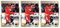 (3) 1991-92 Score Young Superstars Hockey #4 Theo Fleury Card Lot Flames