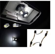 2PC White 5630 6SMD Error Free Decoder 2825 194 W5W 168 LED License Plate Lights