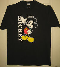 MICKEY MOUSE Shirt XL Walt Disney Florida VINTAGE Velca Sheen Brand HTF RARE OOP