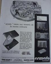 PUBLICITE de presse Montres Ermeto Movado 1931  French ad