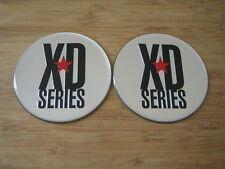 """2x KMC XD Series Monster 778 Chrome/Silver Logo Sticker Only 3 1/16""""Diameter"""