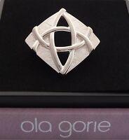 New Ola Gorie Orkney Scottish Silver Alba Brooch Pin