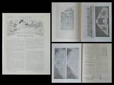 LA CONSTRUCTION MODERNE n°49 1905 PARIS HBM, RUE PRAGUE, CONCOURS ROTHSCHILD,