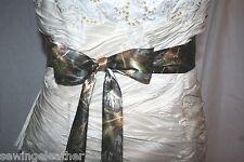 NEW girls /women Camo camouflage satin wedding sash