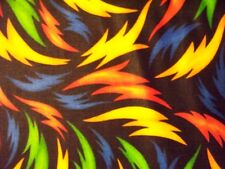 FLAMES CRAZY LIGHTNING BOLT MULTI COLORS RED YELLOW BLUE FABRIC FQ