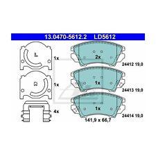 ATE 13.0470-5612.2 Bremsbelagsatz, Scheibenbremse ATE Ceramic   Opel Insignia